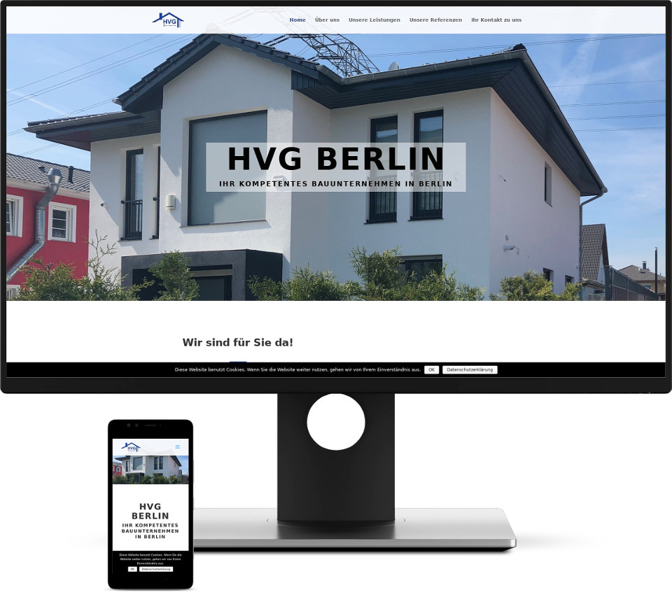 Webdesign Harz HVG-Berlin Website