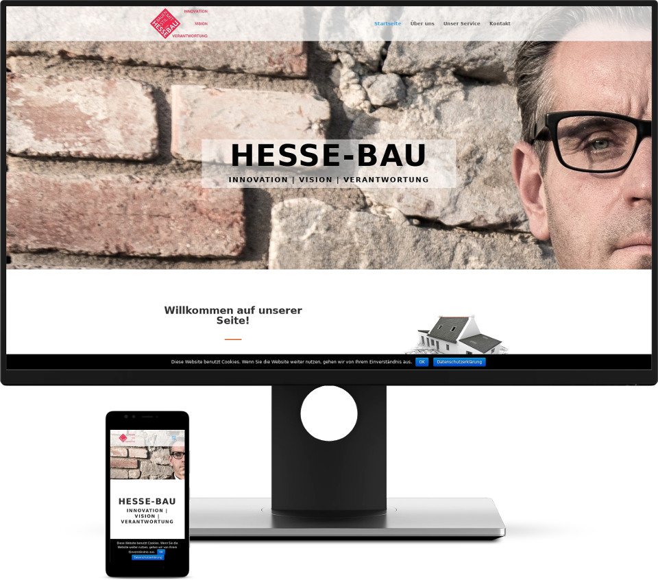 Webdesign Harz Hessebau Website