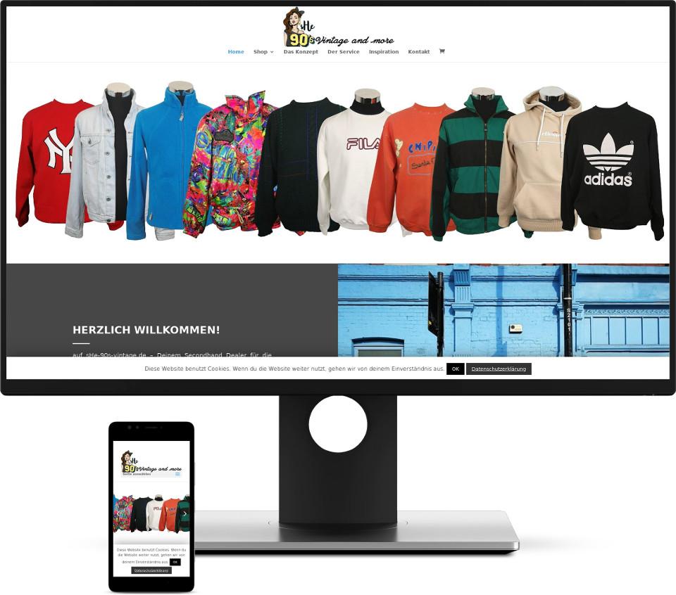Webdesign Harz Webshop She 90s vintage Website