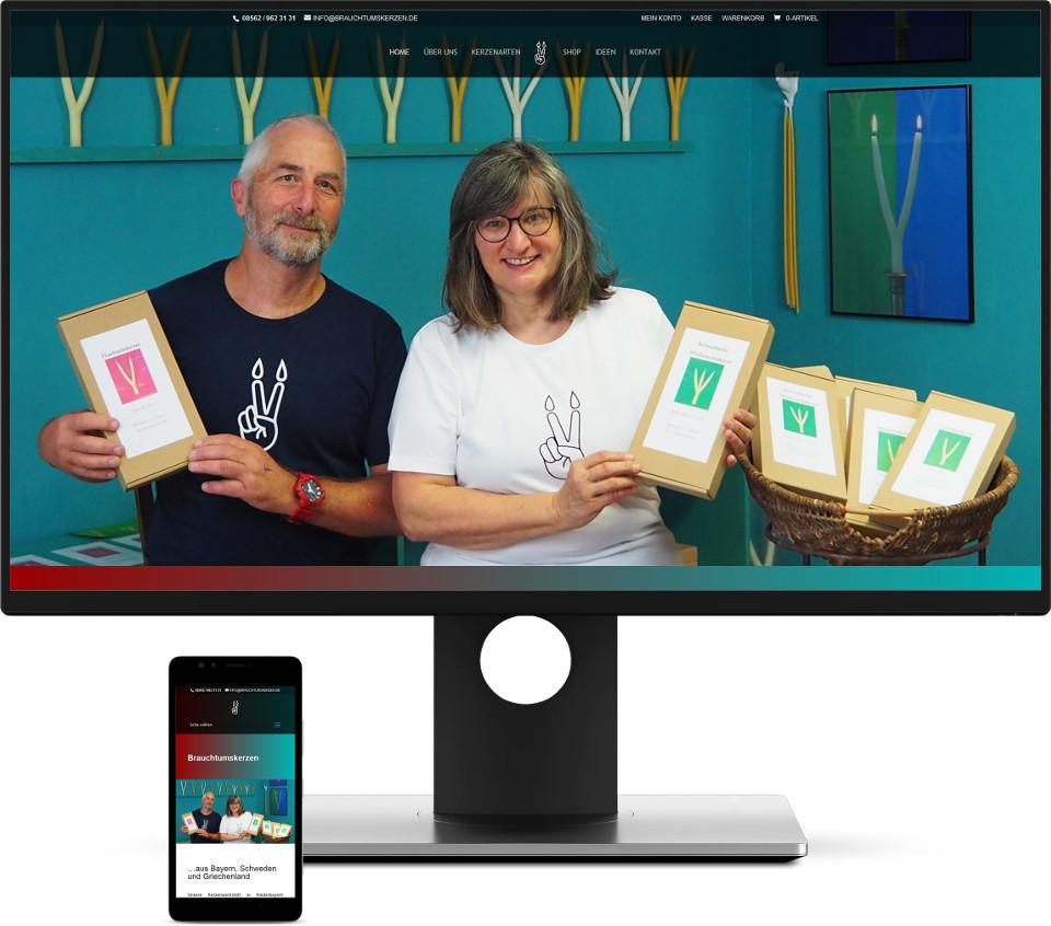 Webdesign Harz Onlineshop Brauchtumskerzen Kreativ Kunsthandwerk
