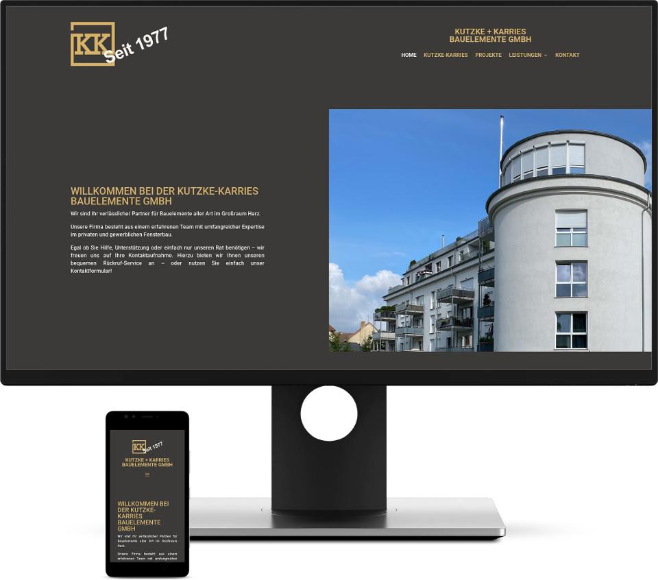 Webdesign Harz Kutzke-Karries Bauelemente GmbH