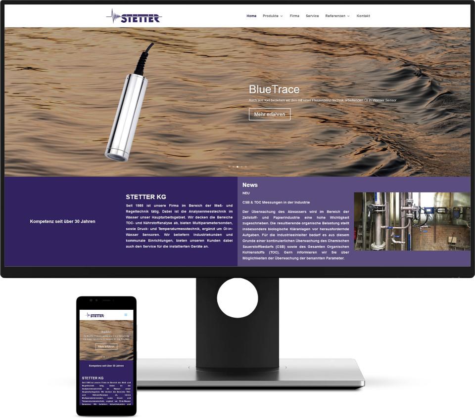 Webdesign Harz STETTER KG Website