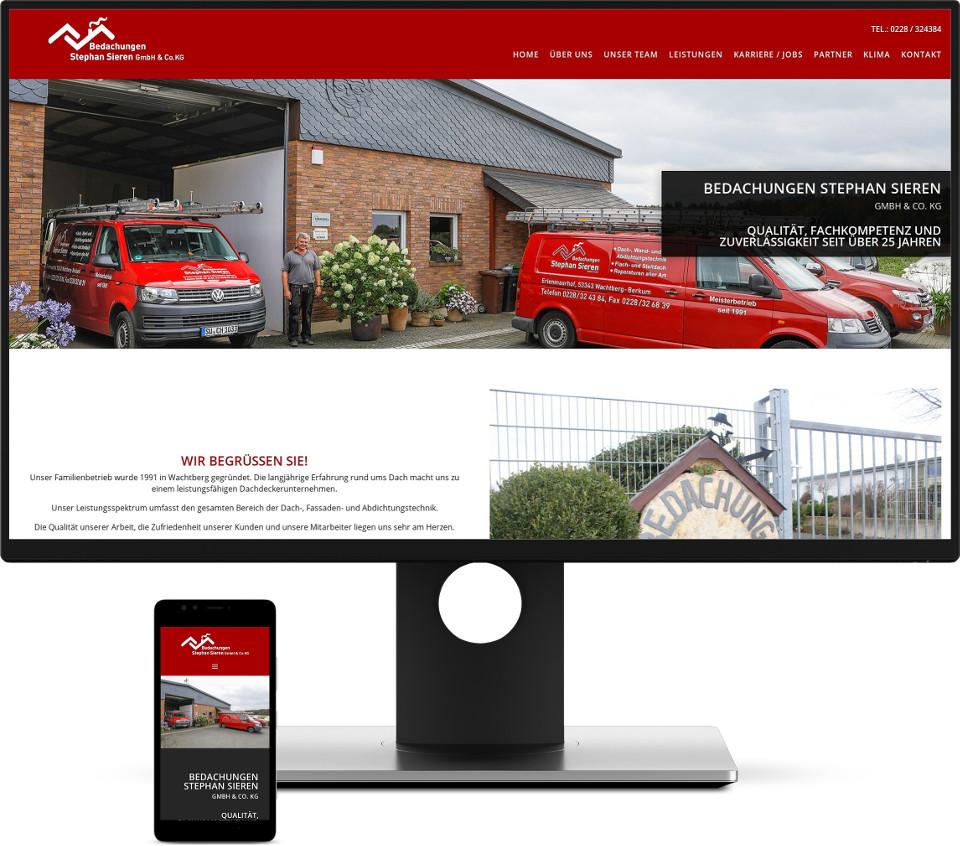 Webdesign Harz Dachdecker Website
