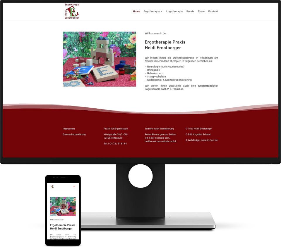Webdesign Harz Website Arztpraxis Ergotherapie