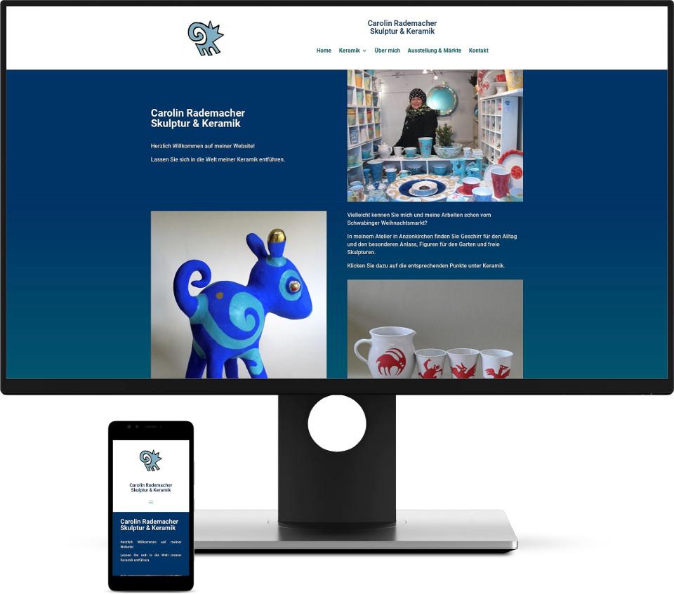 Webdesign Harz Kunsthandwerk Keramik Website